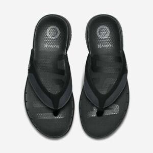 Hurley-Phantom-Free-Men-039-s-USA-Sandals-7-Black-Flip-Flops