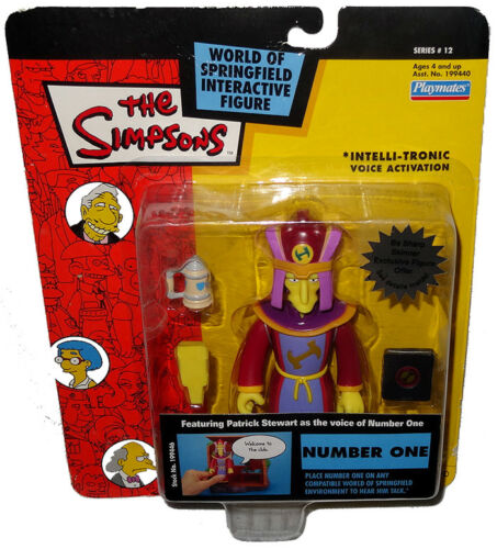 Simpsons Number One Action Figure WOS MOC Series 12 RARE Toy Intelli-Tronic