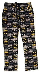 L DC Comics Mens Batman Comics Lounge Sleepwear Pajama Pants New M