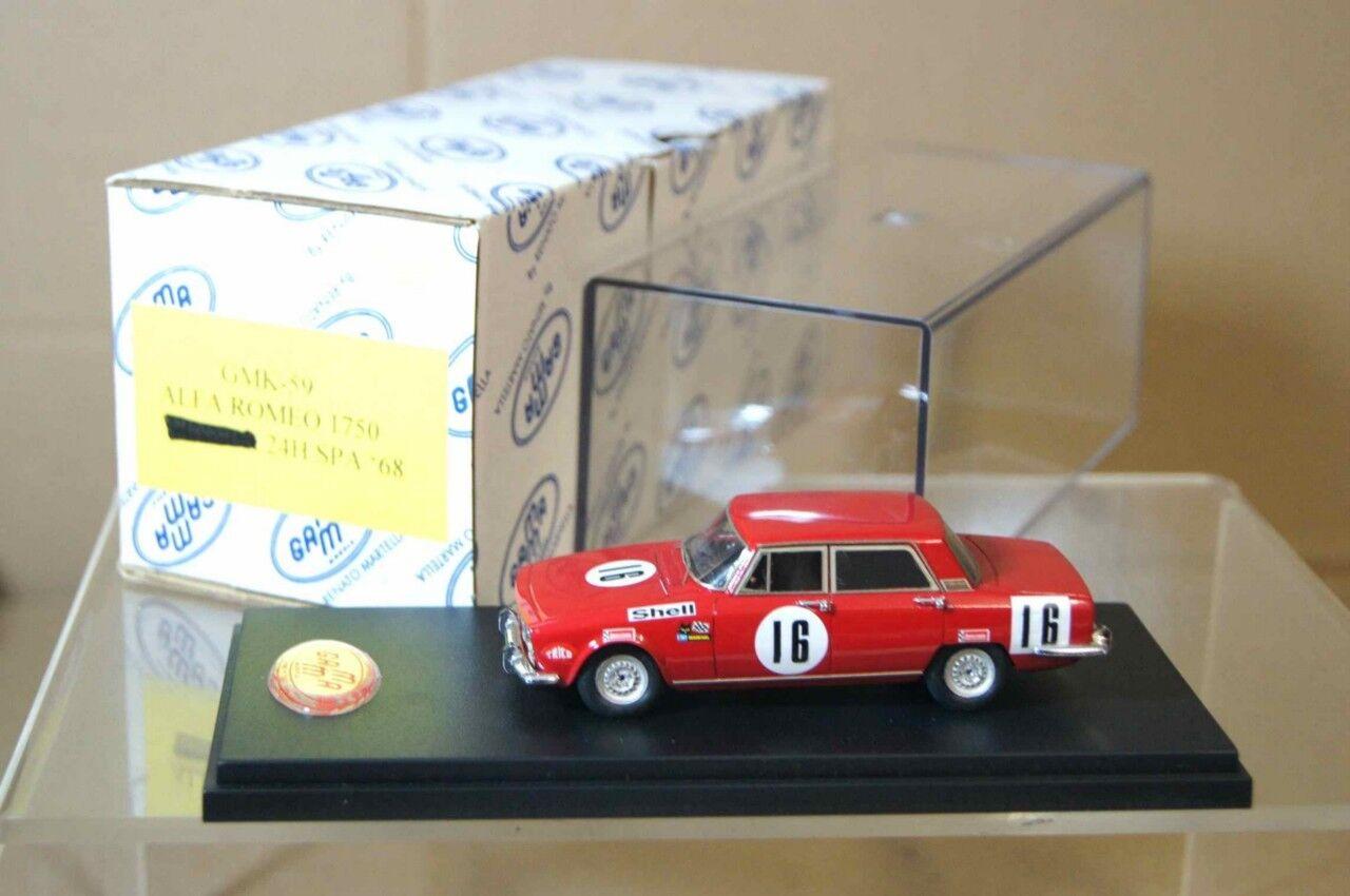 1968 - modellen alfa romeo 1750 berlina 24h spa 16ar
