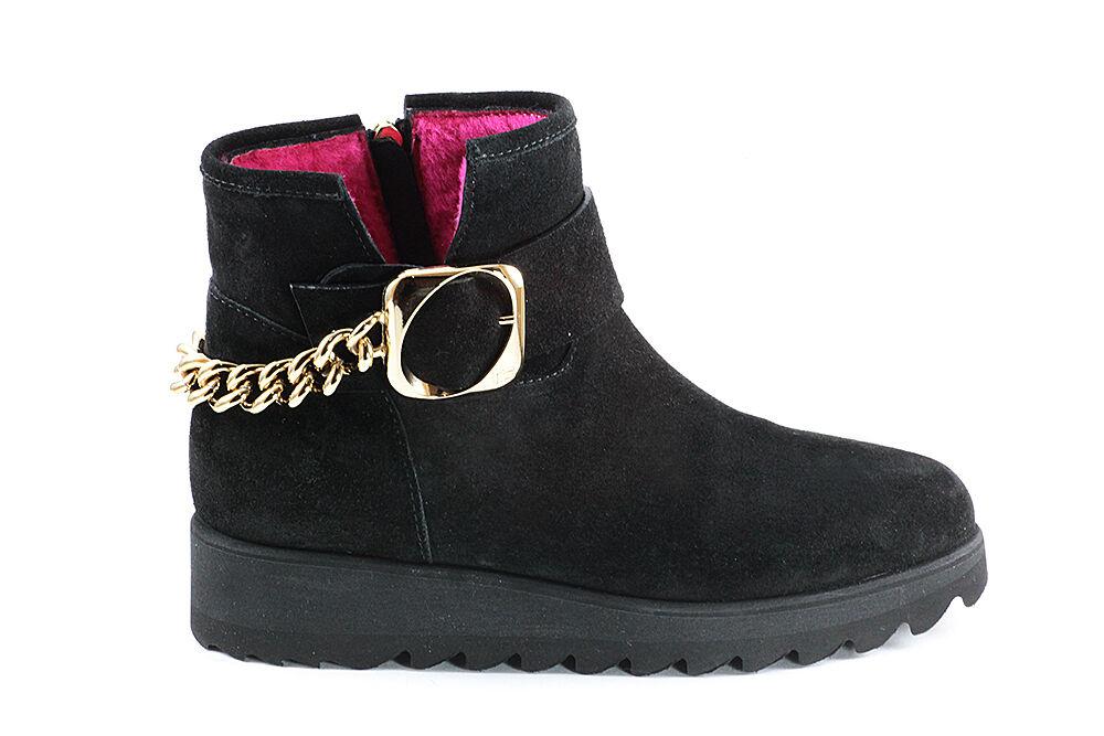Marino Fabiani Suede Italian Boots New Winter Black Fur  Sizes 6,7,8,9,10,11