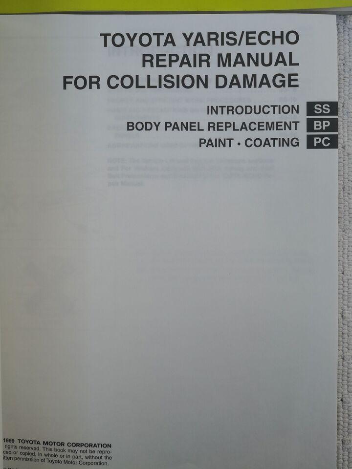 Reparationsbøger, Toyota Yaris