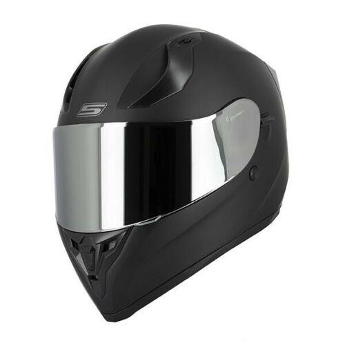 Casque Moto Intégral S441 VENGE Noir Mat Visière Chrome clair ecran solaire