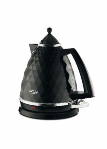 Electric Kettle Black De'Longhi 1.7 L Capacity Hot Drink Maker Kitchen Appliance