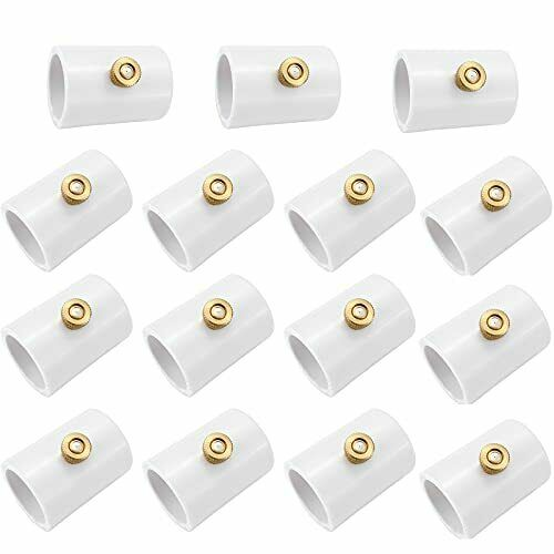 15 Packs 1/2 PVC Misting Nozzles Coupling with Brass Mist Replacement Head New