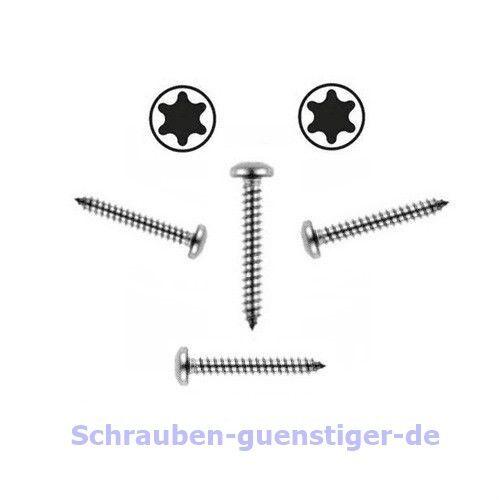 50 Stk Blechschrauben 3,9 mm DIN 7981 3,9 x 32 Torx Edelstahl V2A