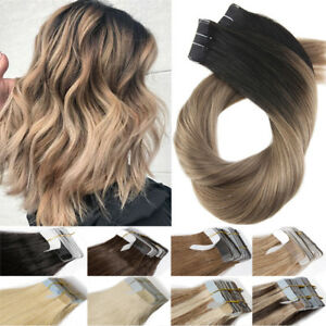 50g 100g 150g Uk Ombre Tape In Remy Russian Human Hair Extensions