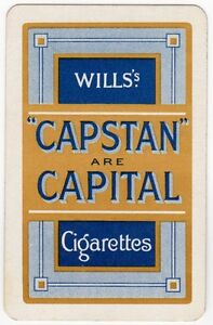 Playing Cards 1 Swap Card  Old Vintage Wills CAPSTAN Are CAPITAL Cigarettes - Bristol, United Kingdom - Playing Cards 1 Swap Card  Old Vintage Wills CAPSTAN Are CAPITAL Cigarettes - Bristol, United Kingdom