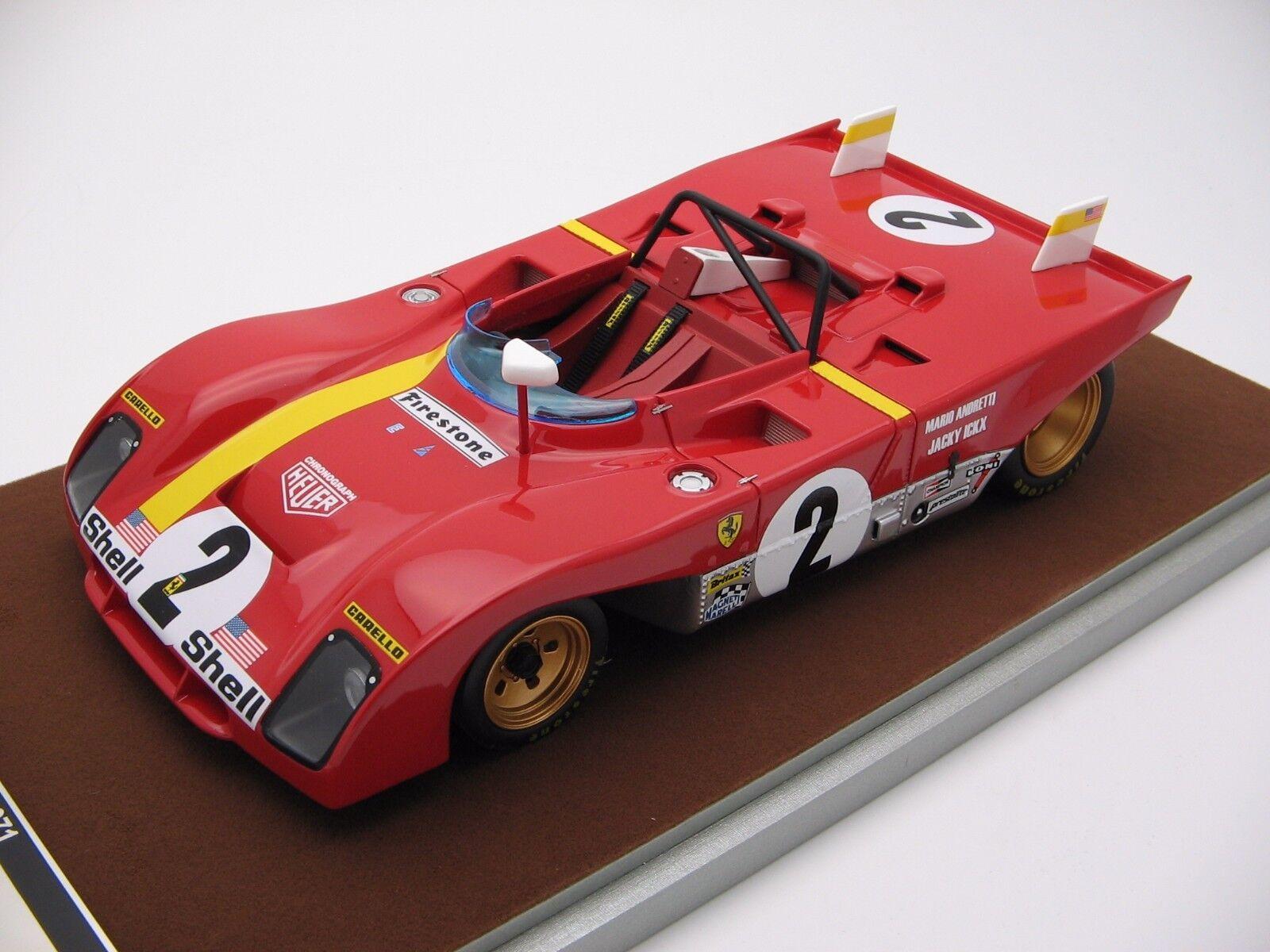 1/18 scale Tecnomodel Ferrari 312PB Daytona 24 Winner 2018 TM18-61B