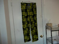 Grinch Pajamas Pants Medium 8 10 Christmas Women's Long Print Fleece