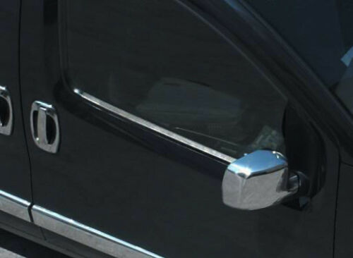Chrome Wing Mirror Trim Set Covers To Fit Citroen Nemo 2008+