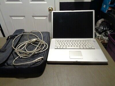 Apple Silver A1046 Macbook Powerbook G4 15 Laptop No Charger To Test Bundle Ebay