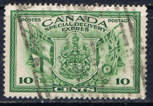 Canada-E10-2-1942-10-cent-green-SPECIAL-DELIVERY-WAR-ISSUE-Used-CV-2-75