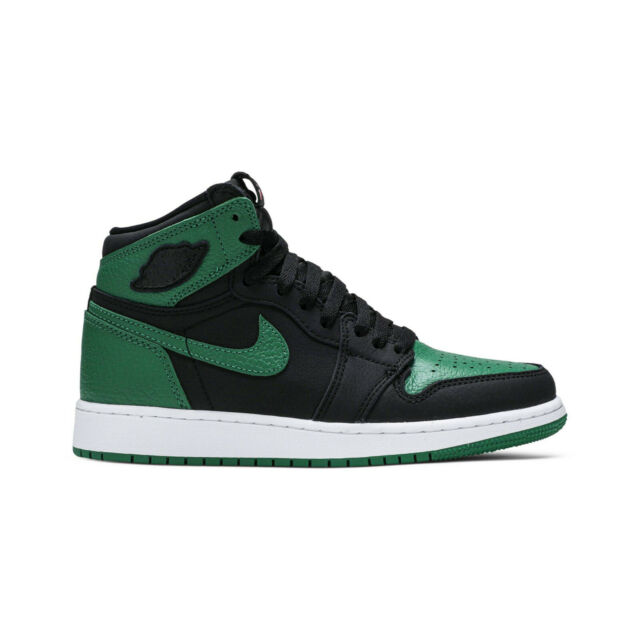 Air Jordan 1 Pine Green GS Size 7y 575441030 Black/pine/gym Red