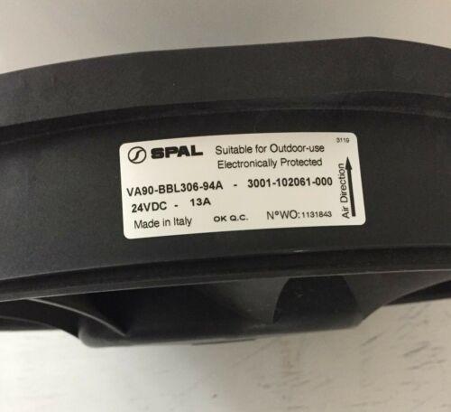 "SPAL VA90-BBL306-94A  3001-102061-000 24VDC-13A 13-1//2/"" Brushless"