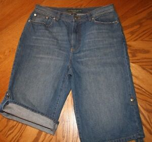 Jean-Shorts-By-Ralph-Lauren-Lauren-Jeans-Co-Size-8-Inseam-11
