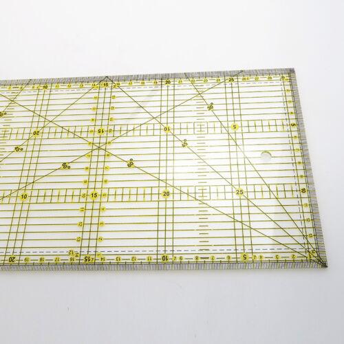 1PC Quilt Quilting Grid Lineal Patchwork Schneider Nähen schneiden Herrscher Neu