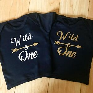 480ee64ff Baby Boys Girls Personalised 1st Birthday Top TShirt Outfit Wild One ...