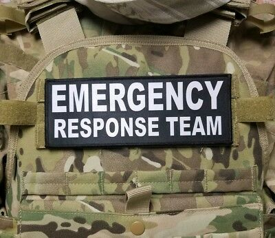 3X8 FEDERAL EMERGENCY RESPONSE TEAM Black Hook Back Patch for Plate Carrier Bag