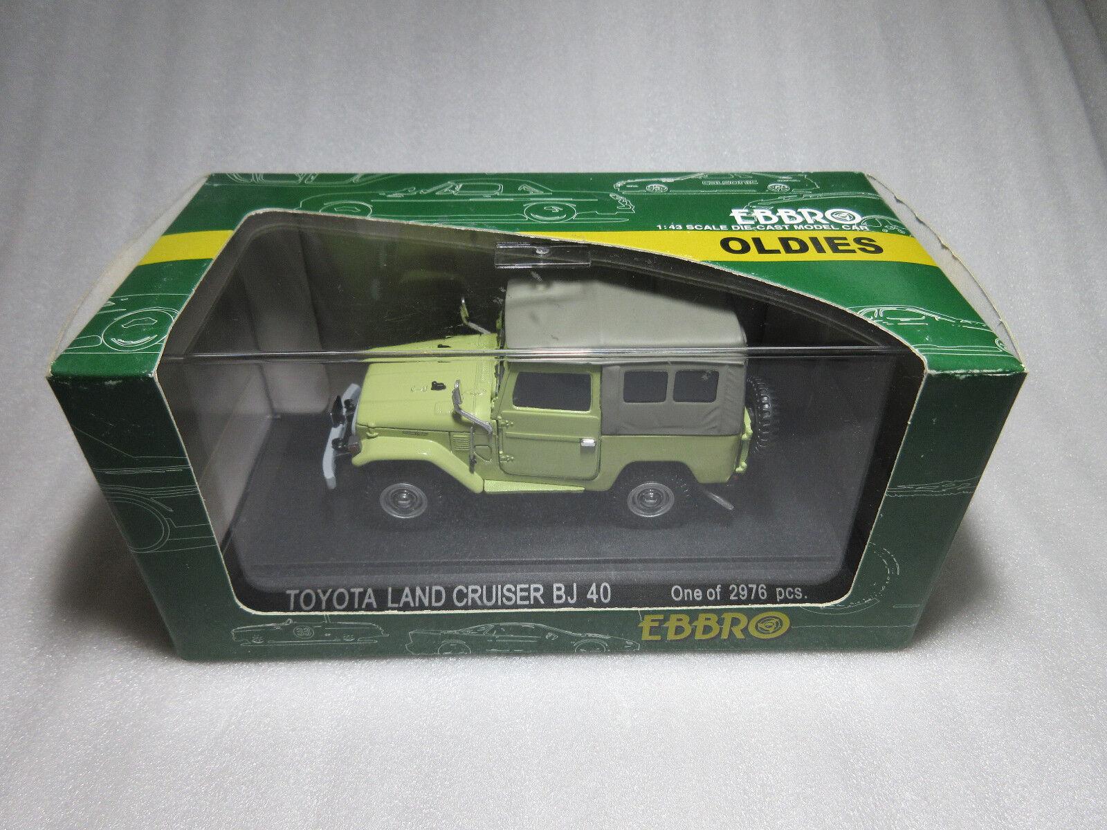EBBRO SpielzeugOTA LAND CRUISER BJ40 Grün 1 43 DIECAST Modellll