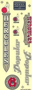 DECALS BICYCLE STICKERS BIKE VINTAGE PARTS HERCULES SPORT GOODS CYCLING ENGLAND