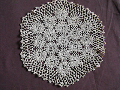 #1255 Beautiful Vintage Hand Made Doily 24cm(9.5'') For Sale