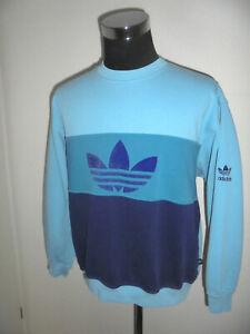rare-vintage-80s-Adidas-sweatshirt-pullover-oldschool-sweater-80er-jahre-M-L