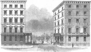 Utile London. The Albert Gate, Hyde Park, Knightsbridge, Antique Print, 1844 Grandes VariéTéS