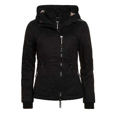Superdry Mujer Chaqueta Micrfbre Boxy Negro