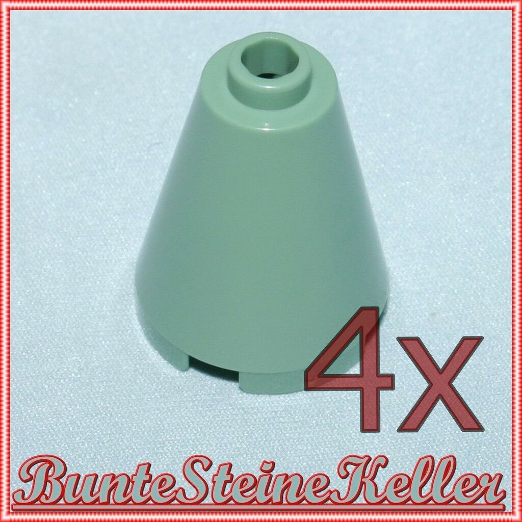 Hr39) 4 pièce sandverte conique pointu cône missiles 2x2x2 en vert & neufs