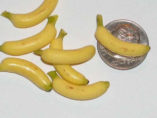 2 Pc.Mix Tiny vintage miniature dollhouse food Bananas candy fruit desert
