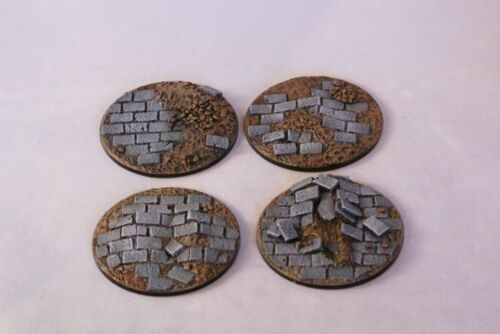 Paved 60mm resin scenic bases X1 wargames Sci-fi scenery Daemonscape