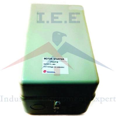 28 Amp 5 HP Single Phase Magnetic Starter Motor Control Shihlin P35TPB 230V
