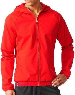 FleißIg Adidas Messi Logo Mens Woven Jacket - Red