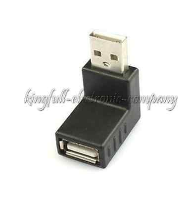 1PCS 90 Degree Angle USB Male To USB Female Elbow Adapters