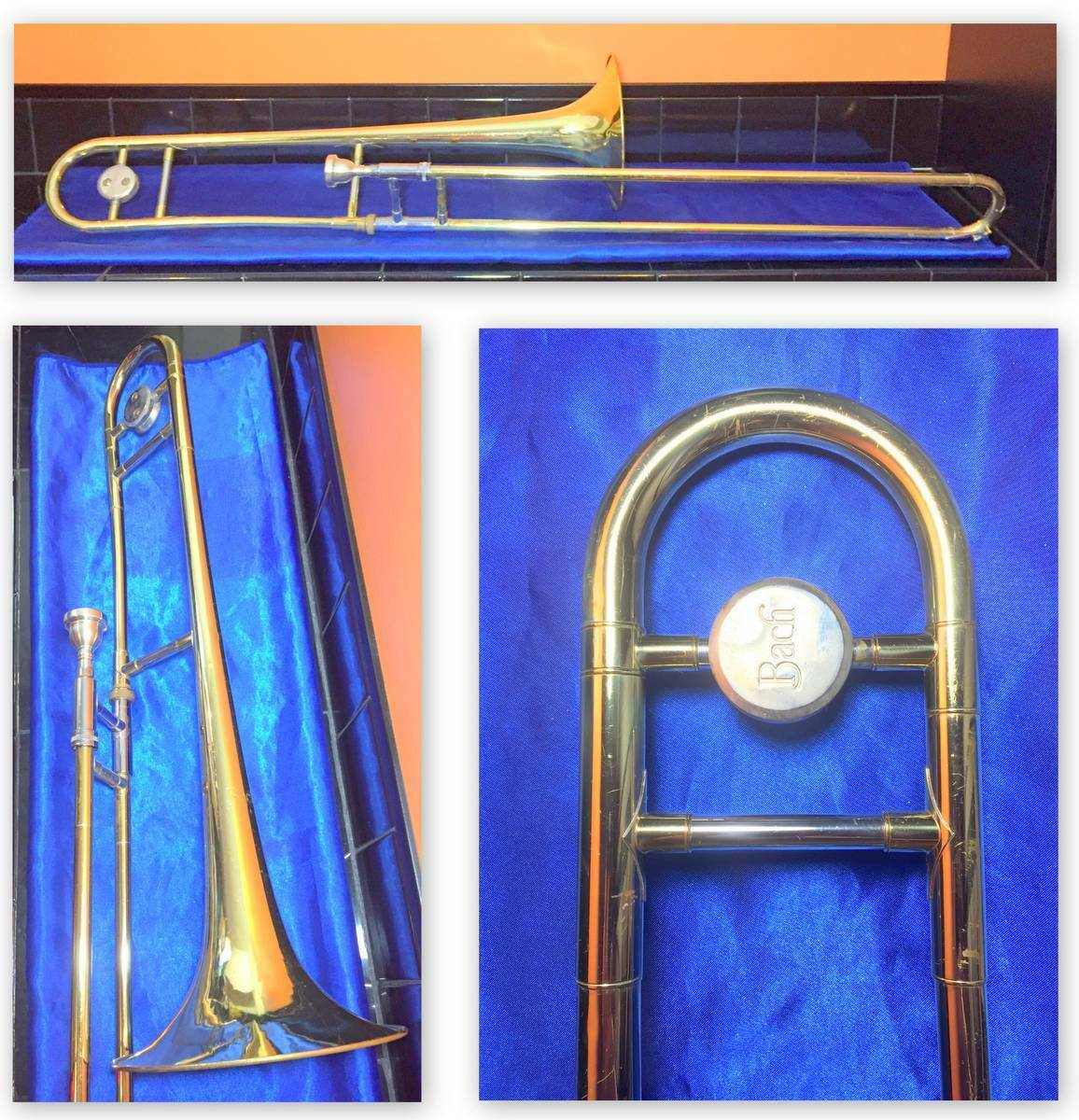 Bach USA Student Trombone GREAT PLAYER Case & Mundstück Fully Serviced