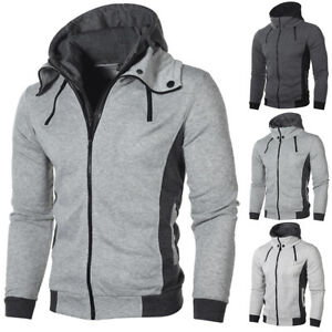 Men-Autumn-Winter-Slim-Hoodie-Hooded-Sweatshirt-Coat-Jacket-Outwear-Sweater-Hot