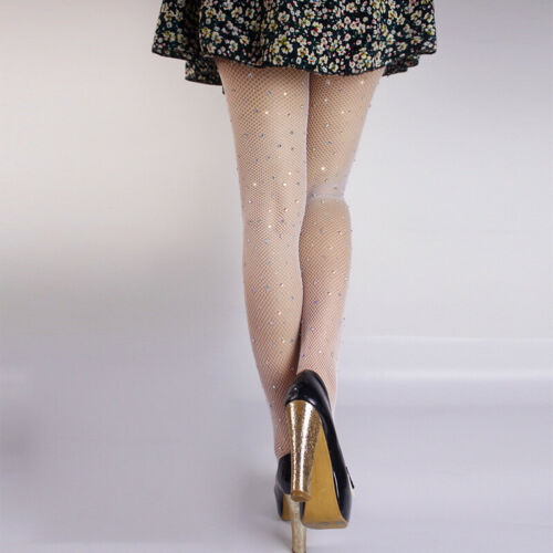 Frauen Strass Fischnetz Net Mesh Socke Strumpf Strumpfhose Bling Yd