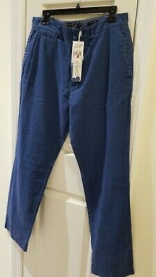 New Grayers for Stitch Fix Mens Pants Navy Blue Linen Cotton Blend Sz 30 and 32