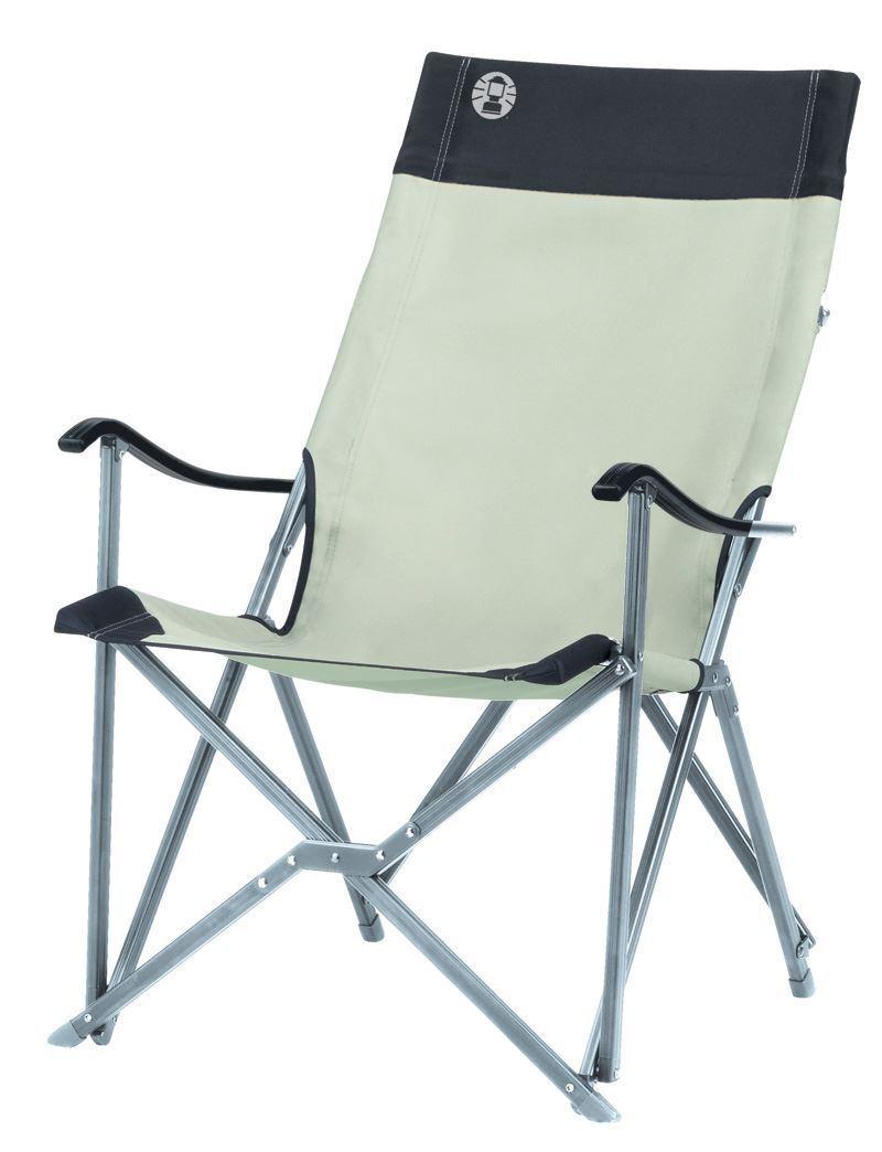 Coleman Khaki Sling Chair Aluminium Lightweight Foldable Camping Caravan