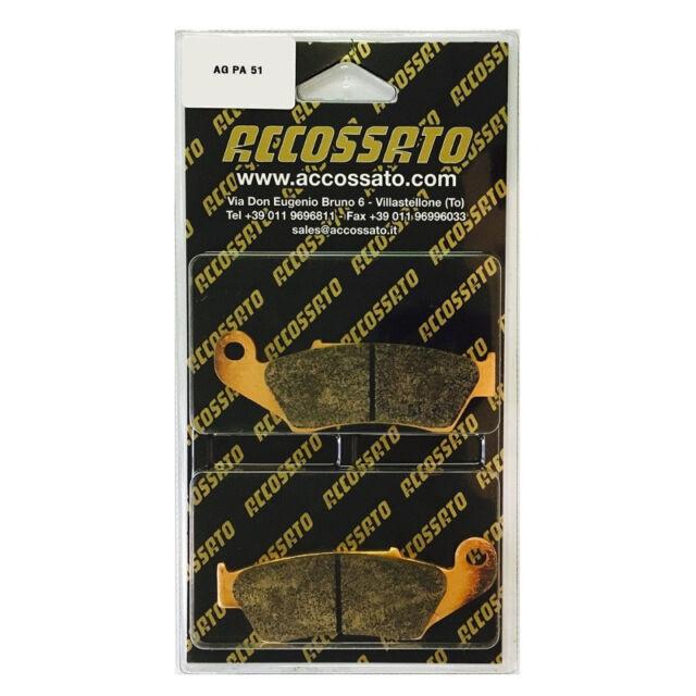 PASTILLA DE FRENO DELANTERO ACCOSSATO HONDA>XR 650 R (2000