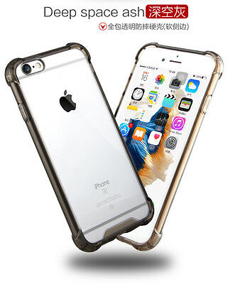 Rugged Hybrid Rubber Shockproof TPU Clear Hard Cover Case for iPhone 5 6s 7 Plus
