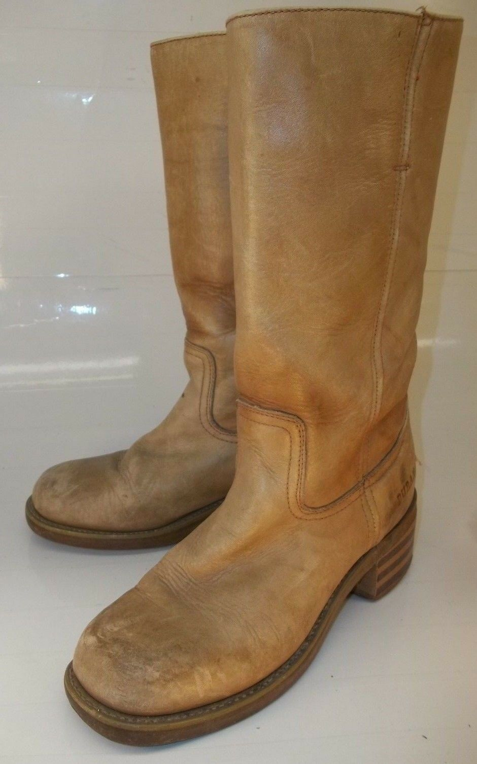 Durango RD2405 Mens Boots US 7M Tan Leather Casual Cowboy Western Work 1585