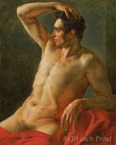 Torso of a Man by Theodore Gericault Nude Male Naked 8x10 Print Picture 1665