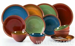 12Pcs-Stoneware-Round-Crockery-Dinner-Set-Plates-Dessert-Pasta-Bowls-Dining-Set