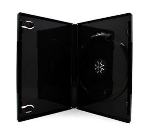 50-x-1-Fach-DVD-Huellen-fuer-1-CD-DVD-Blu-Ray-Huelle-14mm-Schwarz