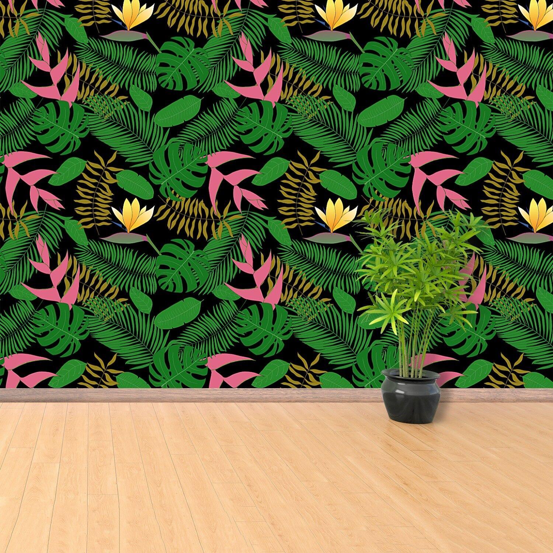 Vlies-Fototapete Fototapeten Tapete aus Vlies Poster Foto Tropische Blätter