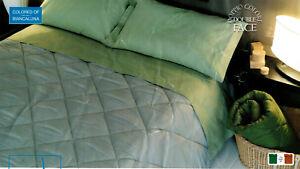 Piumone Matrimoniale Verde.Trapunta Piumone Invernale Matrimoniale Biancaluna Indi Color