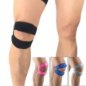 Knee Wrap Sleeve Support Bandage Pad Elastic Braces Knee Hole