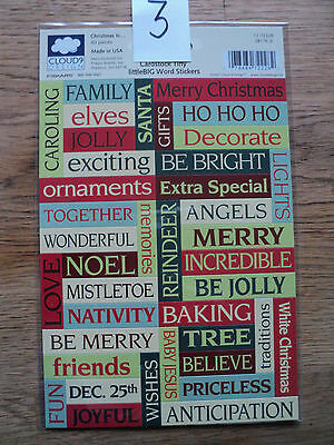 CLOUD9 DESIGN ASSORTED PACKS OF CARDSTOCK TINY LITTLEBIG WORD STICKERS BNIP